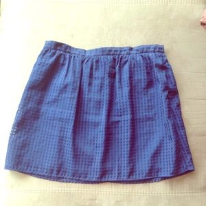 Maison Jules Dark Blue Mini Skirt